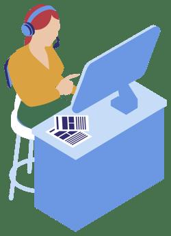 woman remote services