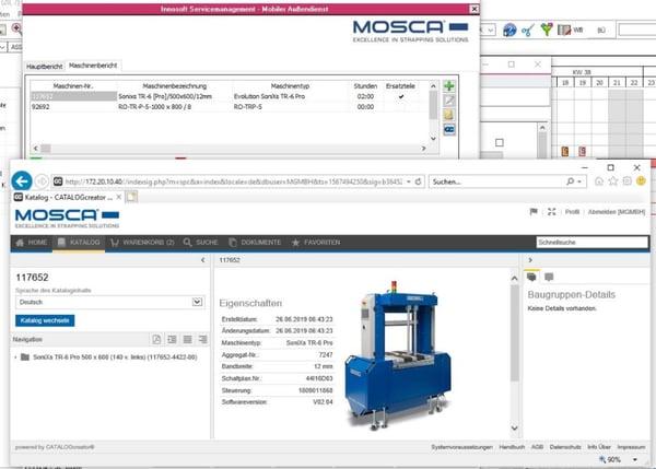 Mosca Screenshot Aufruf Ersatzteilkatalog
