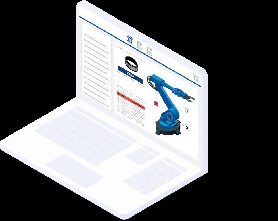 Service-Informationssystem und Ersatzteilkatalog für Anlagenbetreiber und produzierende Unternehmen
